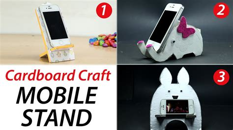 3 diy phone stand cardboard mobile holder craft best out