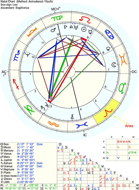 5th House Astrology by Free Natal Birth Chart With Houses Michael Jackson