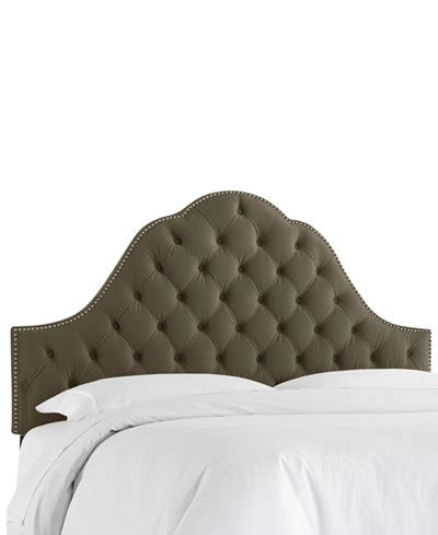 tufted arch headboard jacqueline queen nail button velvet tufted arch headboard