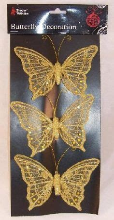 3 quot feather gold butterfly decorations costume