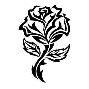 tribal black rose tattoo tribal tattoos black tribal temporary
