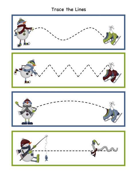 theme line winter preschool printables january 2013
