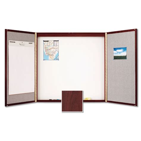 enclosed whiteboard cabinet with folding doors quartet boards enclosed boards conference cabinets