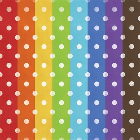 printable spotty paper free printable polka dot rainbow papers digital card fun