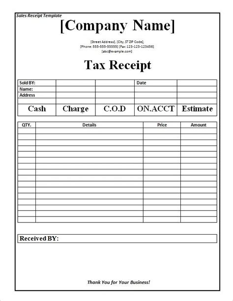 https invoicehome receipt template tax receipt template word doc for free the proper