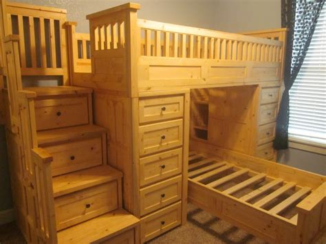 Loft Bed Frame For Adults Custom Loft Beds For Adults With Stylish Stair With Lots Of Drawers Design Popular Home