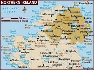 map of northern northern ireland the road
