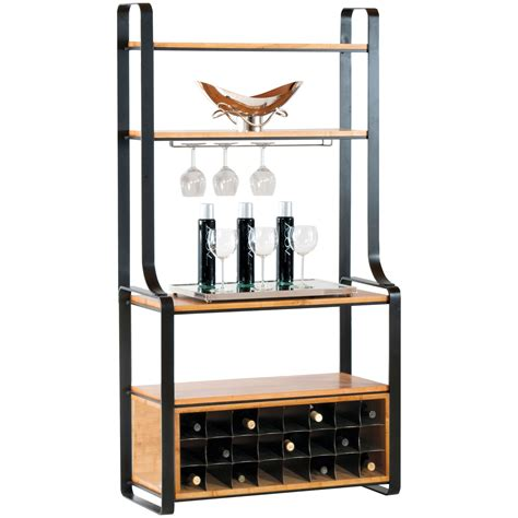 Why Rack Wine by Kenley Iron Bakers Rack With Wine Storage
