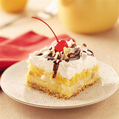 banana split dessert the yellow pine times