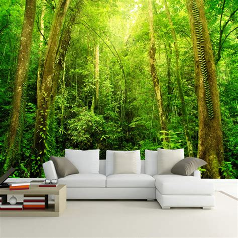 natural scenery  hd large wall mural forest photo