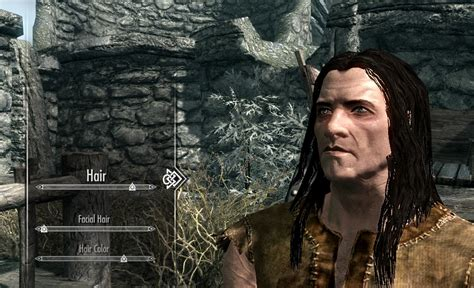 skyrim mod male hair ponytail better male orc hairstyles skyrim mod requests the