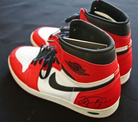 basketball michael shoes lot detail michael signed nike retro air