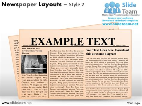 newspaper layout for powerpoint newspaper layouts design 2 powerpoint ppt slides