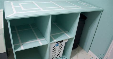 Diy Folding Table And Basket Storage For The Laundry Room Laundry Room Basket Storage