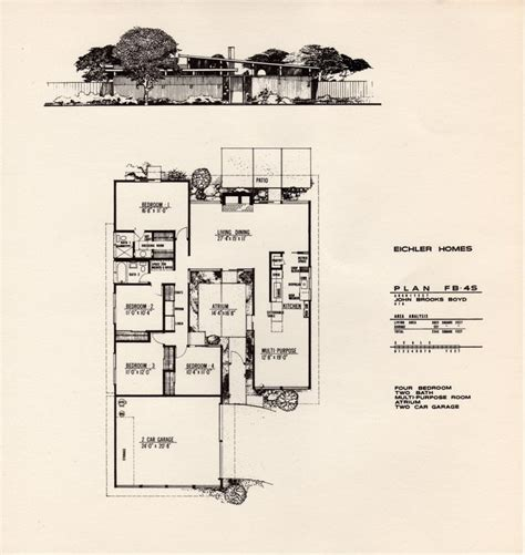 Eichler Atrium Floor Plan by 1000 Images About Eichler Floor Plans On