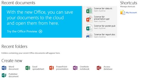 Office Account New Features In Microsoft Office 2013 Screenshots Included