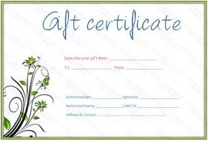 Salon Gift Certificate Template Free by Best Photos Of Spa Gift Certificate Template Printable