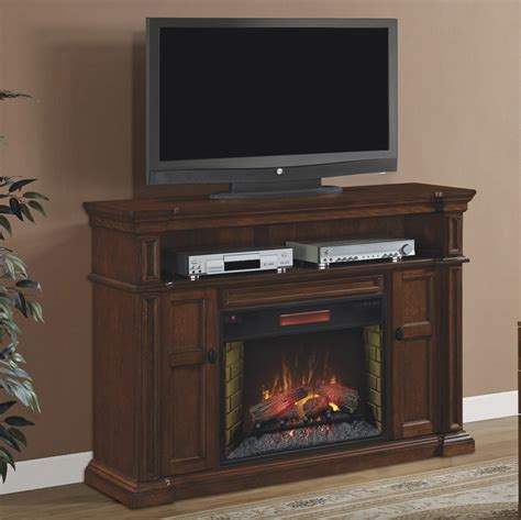 electric fireplace media console wyatt infrared electric fireplace media console 28mm4684