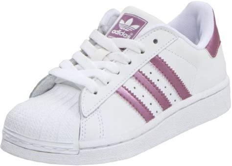 adidas originals superstar 2 metallic stripe sneaker kid big kid white pink metallic
