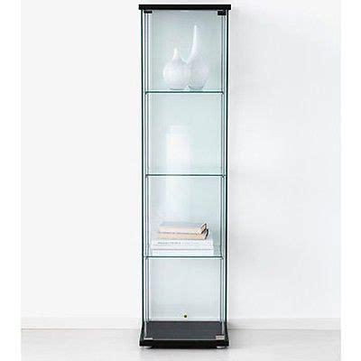 glass door display cabinet black retail boutique
