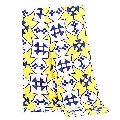 Thin Scarves Flower Pattern Tassel autumn yellow flower pattern simple design viscose thin