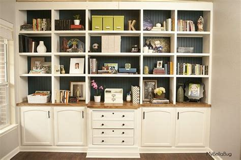Create High End Built Ins Using Cabinets And Bookshelves High End Bookshelves