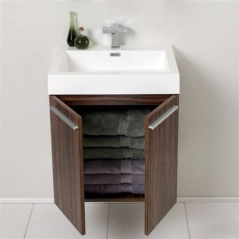 22 Inch Bathroom Vanity Cabinet Fresca Fvn8058gw Alto 22 5 Inch Walnut Modern Bathroom Vanity W Medicine Cabinet Fresca Vanity
