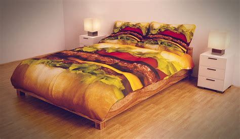 pizza hamburger bedding the awesomer