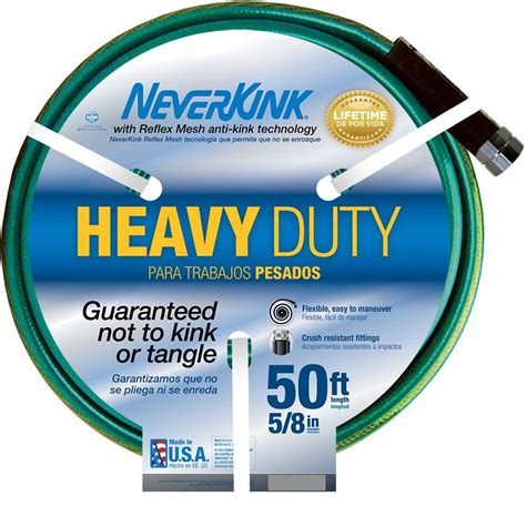 Garden Hoses At Home Depot by Neverkink 5 8 In Dia X 50 Ft Heavy Duty Water Hose Shop Your Way Shopping Earn