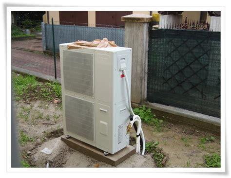 potenza termica riscaldamento a pavimento pompa di calore esterna