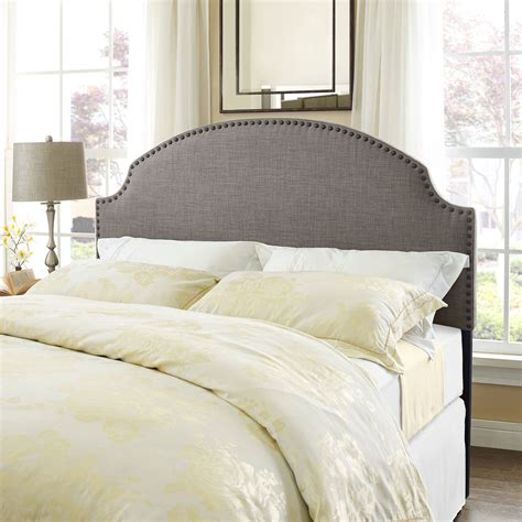 walmart upholstered headboard modway emily queen fabric headboard multiple colors