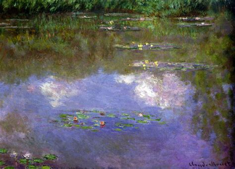 Purple Paint Law by Water Lilies The Clouds Claude Monet Wikiart Org