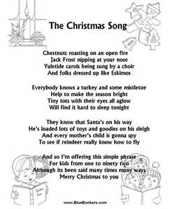 christmas carol lyrics the christmas song chestnuts