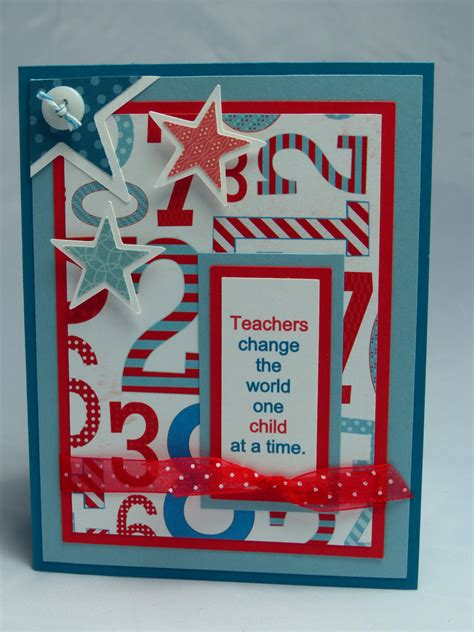 Handmade Greeting Cards For Teachers - stin up handmade greeting card by