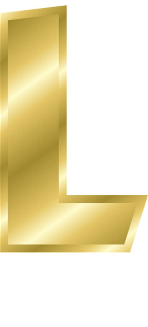 Gold L by Gold Letter Capitol L Signs Symbol Alphabets Numbers