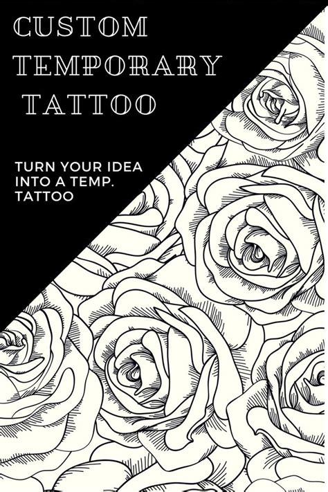 custom removable tattoos custom temporary tattoos anything you want turn your