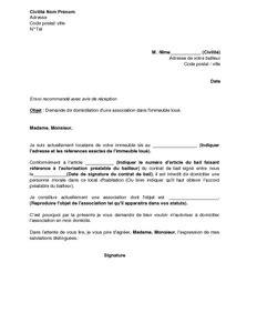 Lettre De Domiciliation Entreprise Exemple Gratuit De Lettre Demande Autorisation Domiciliation Une Association 224 Bailleur