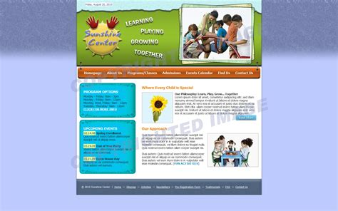Preschool Website Template School Web Template Design 283 Playgroup Website Templates