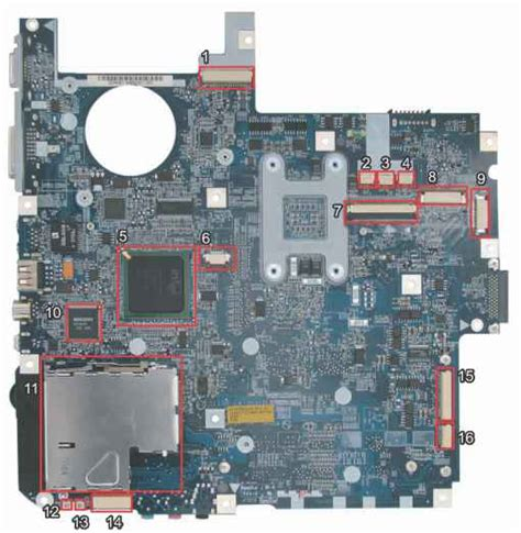 Acer Travelmate 7720g Usb Slot Port Socket Board With Cable 1 features acer aspire 7720 7720g acer laptop repair guides