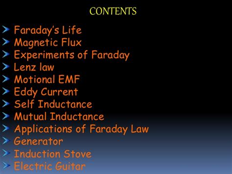 applications of inductance faradays and its applications ppt