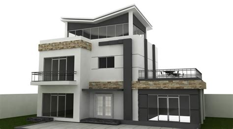 home 3d modeling autocad model for building and villa exterior