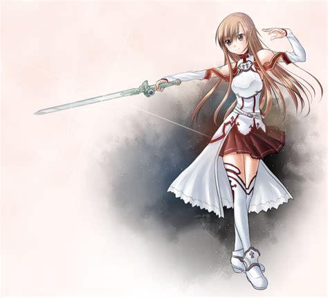 sword art  yuuki asuna  murasaki hana  deviantart