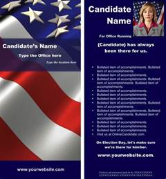 political print templates red white and blue theme