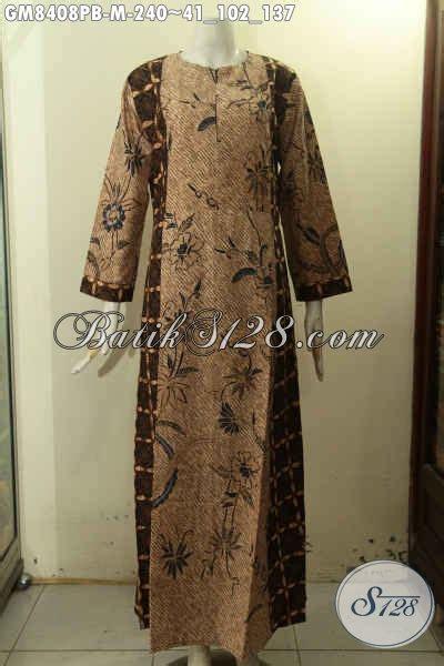model batik gamis solo terkini pakaian batik variasi dua