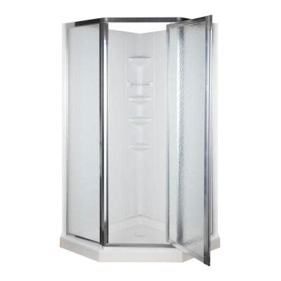 38 in x 38 in x 74 1 4 in neo angle shower kit in white
