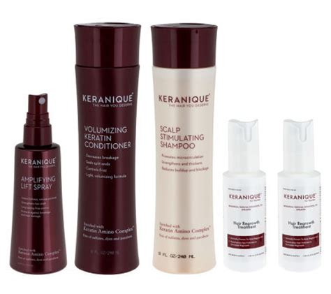 where to buy keranique hair product keranique 5 piece 60 day regrowth and styling kit qvc com