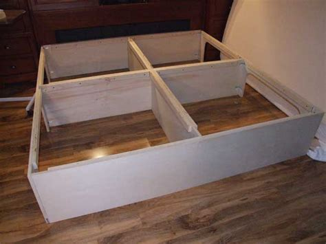How To Make A Bed Frame With Drawers How To Build A Platform Bed Frame With Storage Drawers The Best Bedroom Inspiration