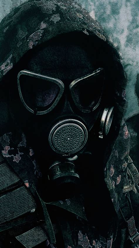 wallpaper iphone  militarygas mask