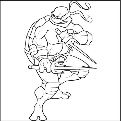 raphael turtle page coloring pages