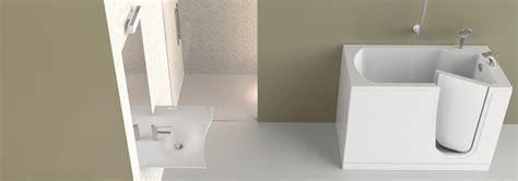 bagno invalidi contributi vasca con porta e anziani a